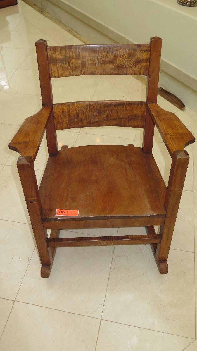 Awesome Curly Koa Rocking Chair Approx 27X33X34 Machost Co Dining Chair Design Ideas Machostcouk