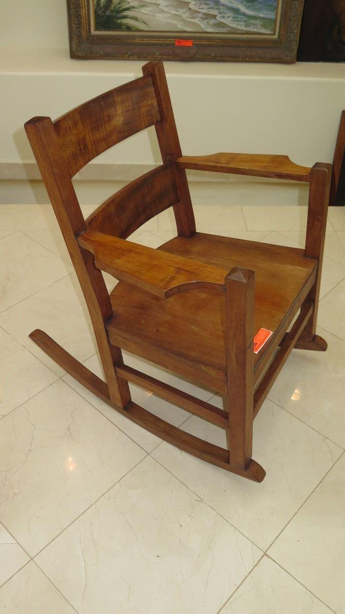 Astounding Curly Koa Rocking Chair Approx 27X33X34 Machost Co Dining Chair Design Ideas Machostcouk