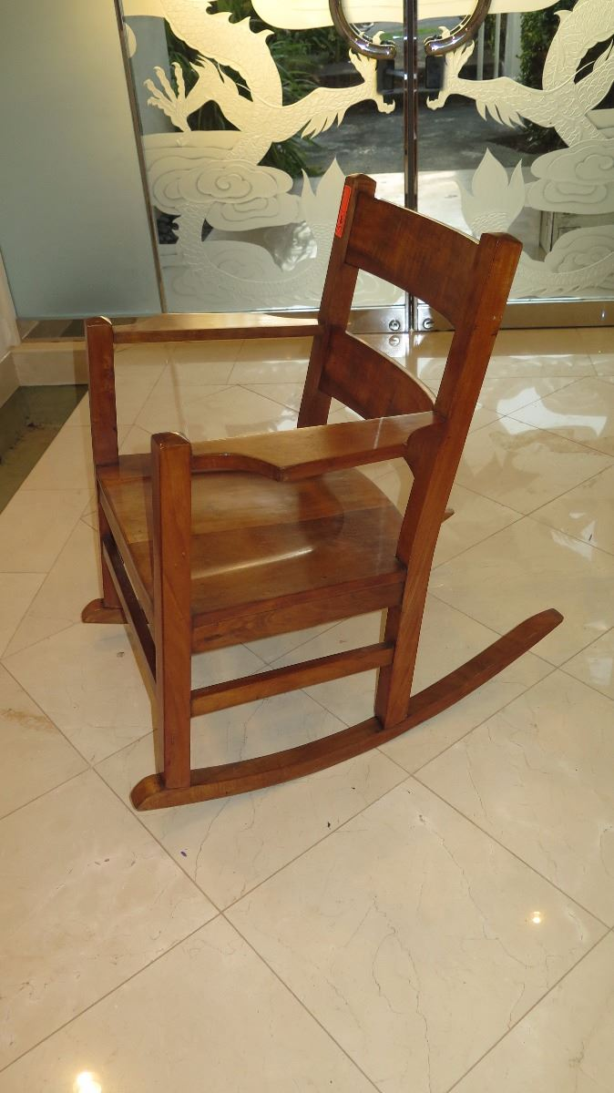 Marvelous Curly Koa Rocking Chair Machost Co Dining Chair Design Ideas Machostcouk