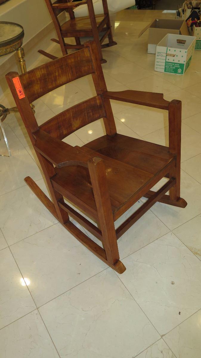 Swell Curly Koa Rocking Chair Machost Co Dining Chair Design Ideas Machostcouk