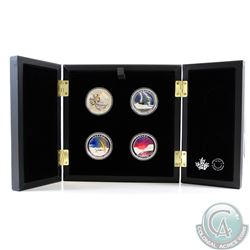 2015-2017 Canada $20 Weather Phenomenon Series 1oz Fine Silver 4-coin Set (Tax Exempt). Coins come e