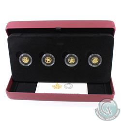 2013 Canada 50-cent 1/25 oz. Pure Gold 4-coin set (Tax Exempt). Each coin comes encapsulated in the