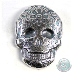 Day of the Dead 2oz Silver Sugar Skull - Monarch Poured Bar (Tax Exempt)