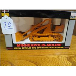 Minneapolis-Moline crawler with loader w/ metal tracks 1/16 scale