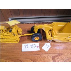 Caterpillar D9 with rear cable control  these two sell as unit 1/25 scale