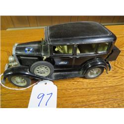 Ford Model A car, 1930 vintage, 4 door, Black, very rare. 1/32 scale