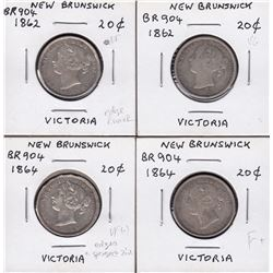 Br 904. Group of 4 N.B. 20 cents.