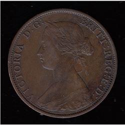 """Br 907. N.B. 1864 1 cent. Scarce """"E: D:"""" error"""