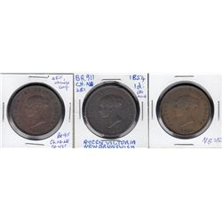 Br 911.  A trio of 1854 pennies.