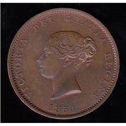Choice Br 912. 1854 halfpenny.