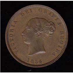Br 912. 1854 halfpenny.