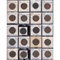 Lot of 67 New Brunswick pre-confederation tokens.