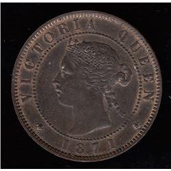 Br 915. Heaton Hoard PEI 1871 cent.