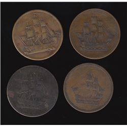 Breton Tokens - Br 1004, 1005.  Group of four.