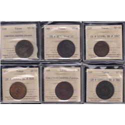 Breton Tokens - Six ICCS-graded tokens.