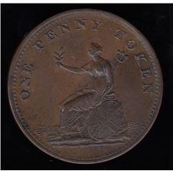 Wellington Tokens - Br 974.  Field Marshall Wellington 1813 Penny.