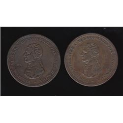 Wellington Tokens - Br 985. Cossack Penny, group of 2.