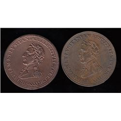 Wellington Tokens - Br 986 and 987.