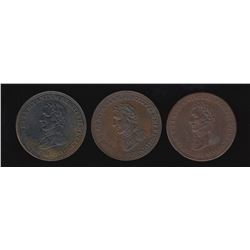 Wellington Tokens - Group of three: Br 986, 987, 988