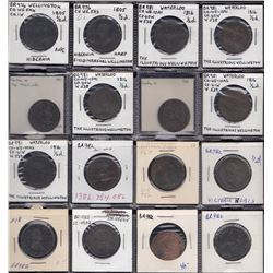 Wellington Tokens - Group of 35, Br 981, 982, 986, 987, 988.
