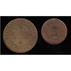 Br 610 & 611.  Phelan and Landry tokens.