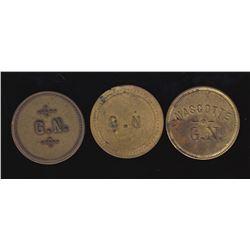 Br 625, 626, 627. G(edeon) N(ormandin), 5c. In Trade.