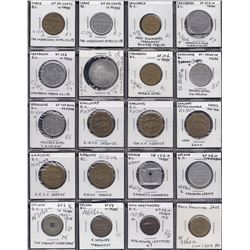 BRITISH COLUMBIA TRADE TOKENS - Lot of 39 tokens.