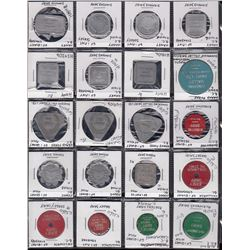 BRITISH COLUMBIA DAIRY TOKENS - Lot of 71 tokens.