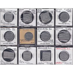 BRITISH COLUMBIA BAKERY TOKENS - Lot of 12 tokens.