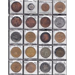 BRITISH COLUMBIA SUNDRY- MEDALS, COMMEMORATIVE, ADVERTISING - Lot of 37.