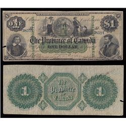 Province of Canada $1, 1866