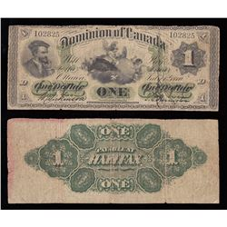 Dominion of Canada $1, 1870 Payable at Halifax