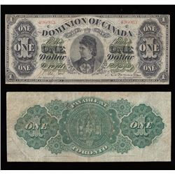 Dominion of Canada $1, 1878 Payable at Toronto