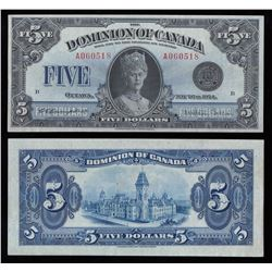 Dominion of Canada $5, 1924