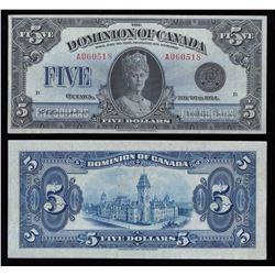 Dominion of Canada $5, 1924