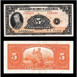 Banque du Canada $5, 1935