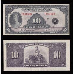 Banque du Canada $10, 1935