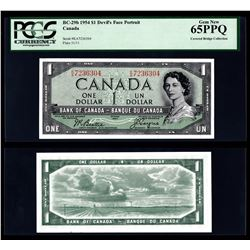 Bank of Canada $1, 1954, Devil's Face