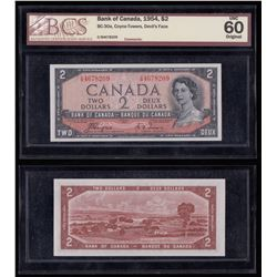 Bank of Canada $2 Devil's Face, 1954