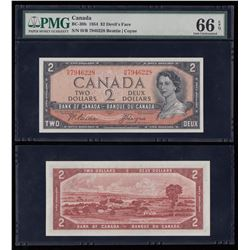 Bank of Canada $2, 1954, Devil's Face