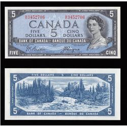 Bank of Canada $5, 1954, Devil's Face