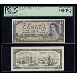 Bank of Canada $20, 1954, Devil's Face