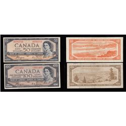 Bank of Canada $50 & $100, Devil's Face Pair