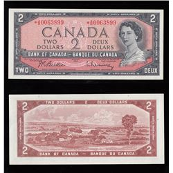 Bank of Canada $2, 1954, Replacement Note
