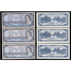 Bank of Canada $5 Trio, 1954