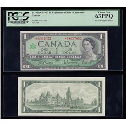 Bank of Canada $1, 1967, Replacement Note