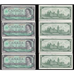 Bank of Canada $1, 1967, Replacement Notes - Lot of 4 Consecutive