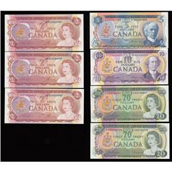 Bank of Canada Replacement Banknote Lot of 7