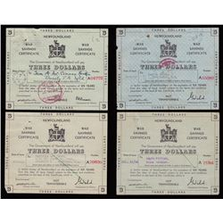 A collection of Newfoundland War Savings Certificates