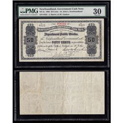 Newfoundland Government Cash Note $1, 1903
